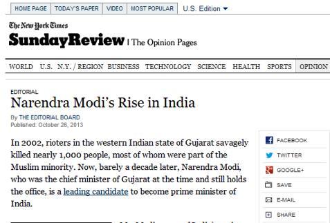 Muslims in Gujarat Poorer: NYT