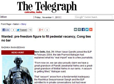 RSS wasn't associated with freedom struggle: Telegraph
