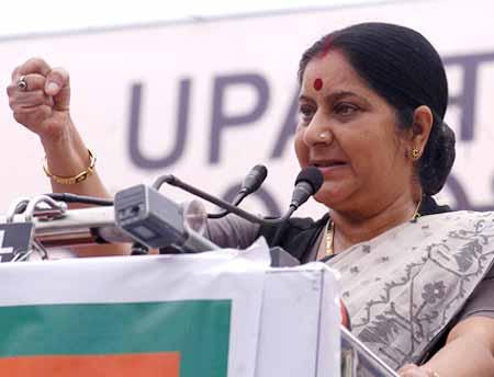 Sushma Swaraj bats for Congress