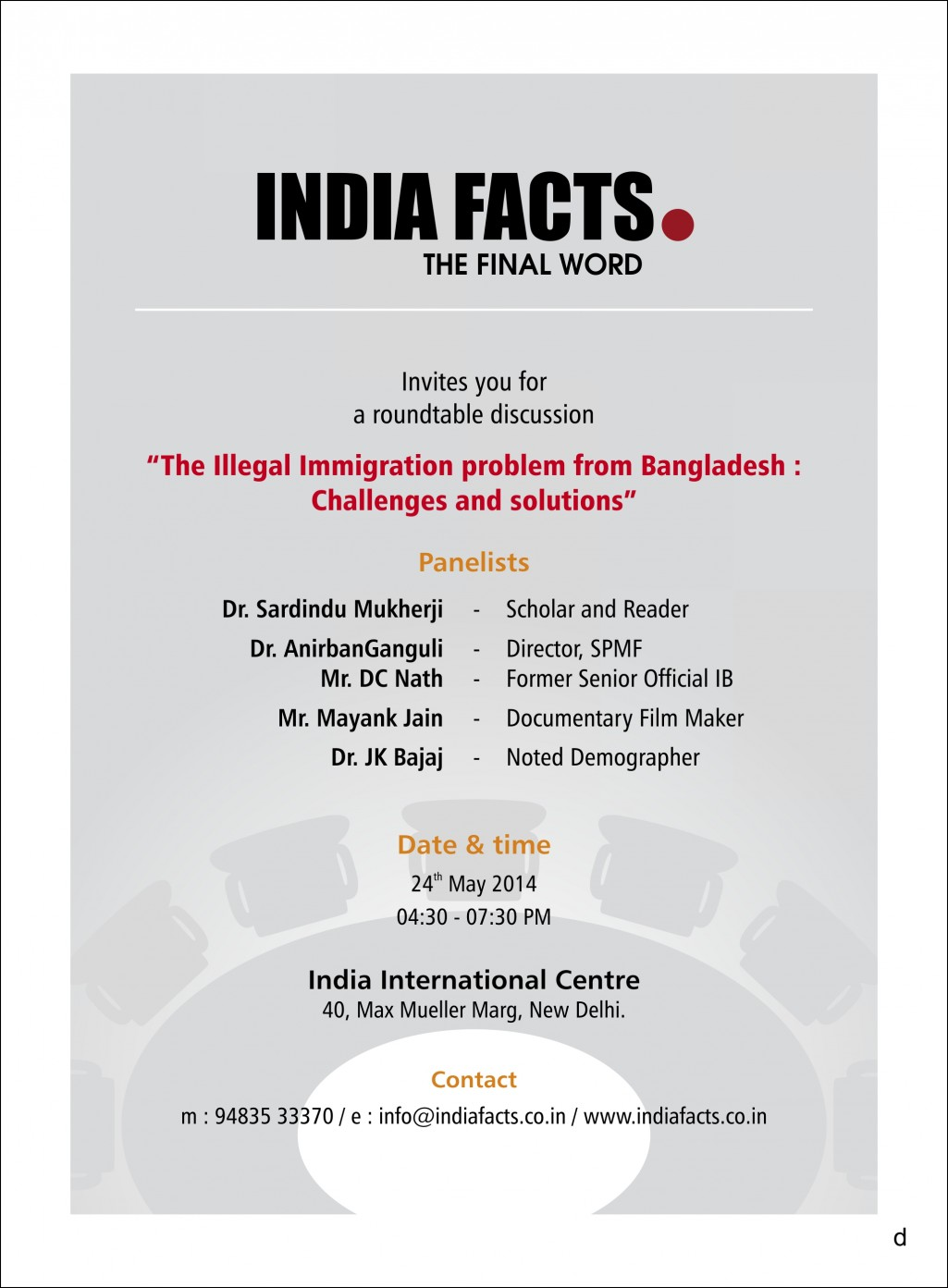 Announcing IndiaFacts Roundtable in Delhi: 24 May 2014