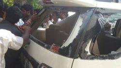 Mahendra car attacked