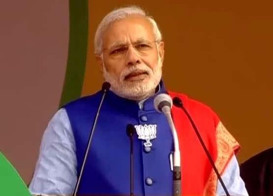 DELHI POLLS: Modi prepared pitch for Modi