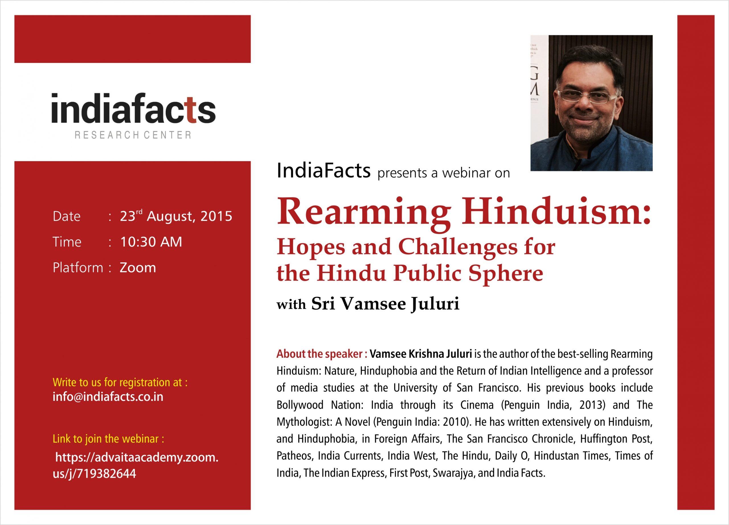 IndiaFacts Webinar: Rearming Hinduism