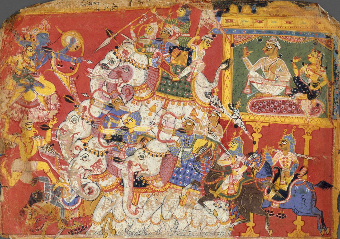 Krishna and Narakasura: The Tale of Dharma Asserting Over Adharma