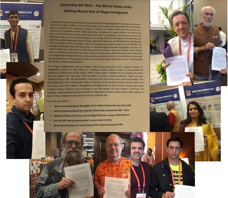 Hindus in America campaign for the Citizenship Bill at the World Hindu Congress
