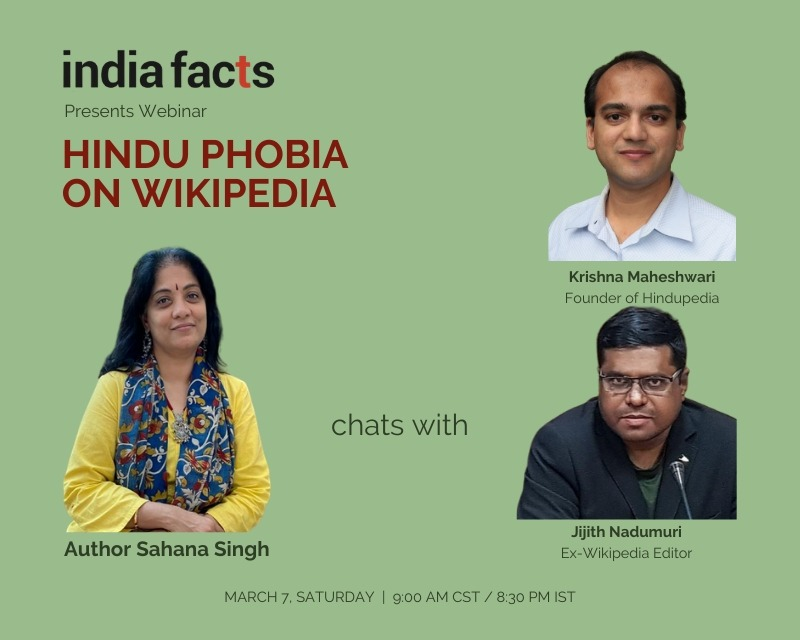 Video of Webinar on 'Hinduphobia on Wikipedia'
