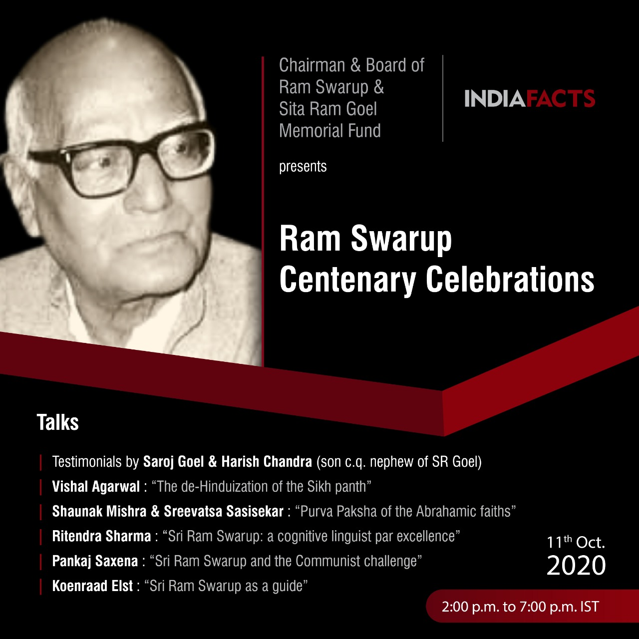 Ram Swarup Centenary Celebrations